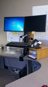 full size desk simple stand. This Is My New Stand Up Desk Set At Work! | Products I Love Pinterest Desks Full Size Simple T