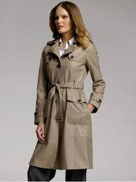 br monogram leather trenchcoat