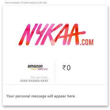 Nykaa eGift Card : Amazon.in