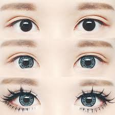 dolly eye makeup tutorial using circle lenses korean makeup skin care s sweety nudy ice blue
