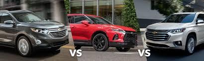Suv Comparison Chart 2019 Equinox Vs Blazer Vs Traverse Chevy Suv Size Comparison