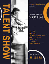 Talent Show Flyer Design Template In Word Psd Publisher