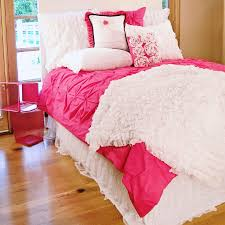 hot pink pin tucked duvet cover zoom lightbox moreview lightbox moreview
