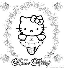 Kitty Hello Coloring Pages Happy Birthday Hello Kitty Coloring Pages