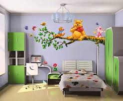 Lovely Beautiful Wall Painting Of Winnie Pooh