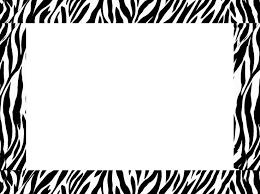 Stripe Templates Zebra Stripe Frame Clipart