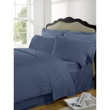 highams 100 egyptian cotton plain dyed duvet cover and pillowcases steel blue iwoot