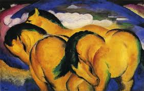 little yellow horses 1912 franz marc