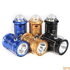 DP46 Đèn Pin năng lượng mặt trời có thể dùng làm đèn led trang trí sân khấu  có thêm chân sạc USB giá cực rẻ