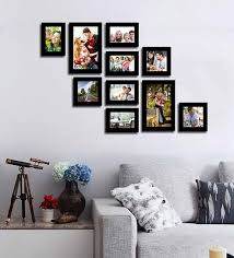 collage picture black fiber photo frame by art street black picture frames wall41 black