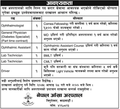 Job Vacancy In Nepal Eye Hospital,job Vacancy For Ophthalmologist ...