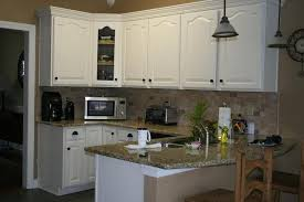 painting cabinets whitePainted White Kitchen Cabinets Photo Gallery Of The DIY Project