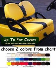 club car precedent golf club car precedent golf cart custom front rear flip seat cover combo set