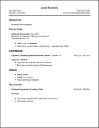 Awesome Collection Of How To Create A Resume With No Work