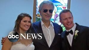 To Andrea Goes Youtube Bride Surprise Undercover Bocelli A qttB7zfr