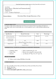 All Resume Format Free Download Resume Format Free Download In Ms Word 2007 For Freshers Resume