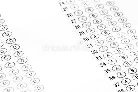 bubbles form exam bubbles form stock image image of questions education 109434003