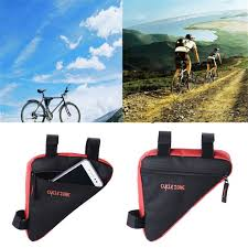 Triangle <b>Cycling Bike</b> Front Tube Frame Pouch <b>Bag</b> Holder <b>Saddle</b> ...