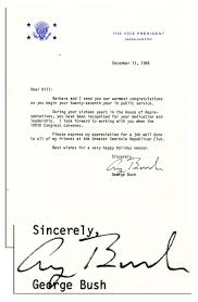 Lot Detail George H W Bush Typed Letter Signed As Vice President