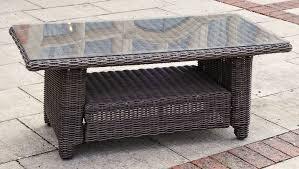 kensington deluxe coffee table maple rattan slate rattan garden furniture guarantee