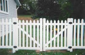vinyl fence double gate. Straight Top Contemporary Double Gate Vinyl Fence F