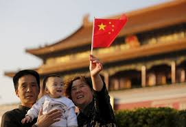 s population to peak in under two child policy family is easing its one child policy but two children will be the limit at least for now photo reuters