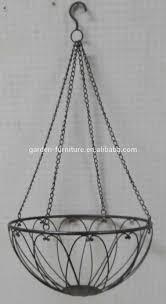 handicraft garden patio park decor vintage black open wire plant hanging  baskets