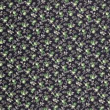 Green and Black Floral Wallpaper