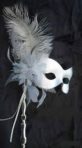 Mask Decorating Ideas Silver stick mask with an ostrich feather Frightening French 27