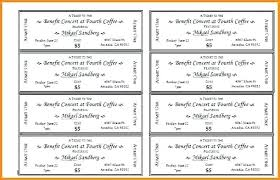 Free Templates For Tickets Fundraiser Raffle Tickets Ticket Templates Word Format Resume Layout