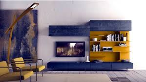 Small Picture Wall Shelf Designs by Presotto for the modern living room interior