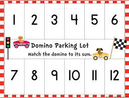 Dominos Chart Free Domino Parking Lot And More Math Workstation Freebies