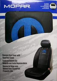 mopar logo truck car sideless embroidered seat cover vinyl chrysler dodge ram rt sel power plus