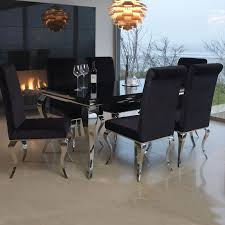 black gl top dining table room ideas
