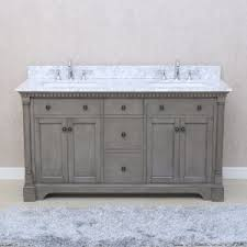 bathroom double sink cabinets. Ari Kitchen And Bath Stella 61 In. Double Bathroom Vanity Set - Antique Gray Sink Cabinets