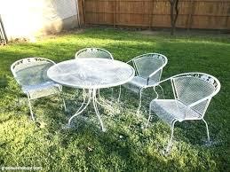 White metal patio chairs Retro Metal White Metal Patio Chairs Metal Patio Furniture White Painted Metal Patio Table And Chairs Metal Devotus White Metal Patio Chairs Refined White Metal Chairs With Pillows