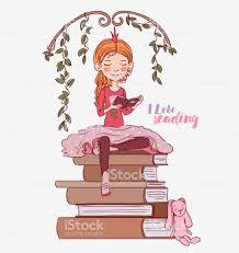 Niedliche Kleine Mädchen Mit Einem Buch Im Schlafzimmer Krone Schöne