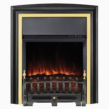 faux fireplace space heater loveable focal point lycia black brass led electric fire
