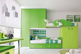 study bedroom furniture. Kids Bedroom Furniture With Green Cabin Beds Made Of Wooden And Study Desk W