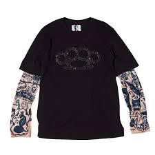 футболка кастет с длинными рукавами татуировка Hooligan