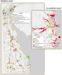 Indian River Bay Tide Chart 2018 Fishing Clamming Maps Delaware Fishing Regulations
