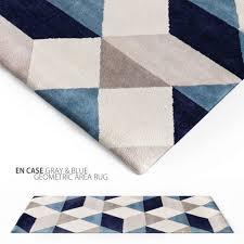 en casa gray blue geometric area rug 3d rug blue black grey white rug geometric area