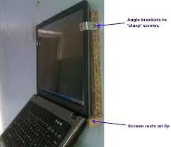 wall mount laptop laptop open