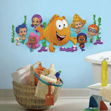 >bubble guppies character giant wall decal roommates shop bubble guppies removable wall stickers