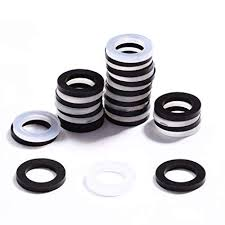 litorange outdoor garden hose washers gasket 40 piece bo pack black clear made