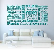 city names world travel modern country wall art sticker decal quote transfer on city names wall art with city names world travel modern country wall art sticker decal quote