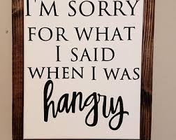 Kitchen framed art Posters Im Sorry For What Said When Was Hangry Sign Framed Canvas Sign Funny Kitchen Sign Funny Kitchen Decor Kitchen Decor Hangry Sign Etsy Framed Kitchen Art Etsy