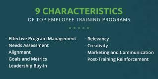 Employee Training Management 9 Characteristics Of Top Employee Training Programs