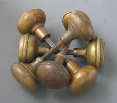 reclaimed brass door knobs photo 2