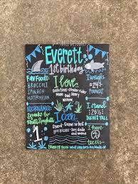 Chalkboard Sign Designs Baby Shark You Pick Theme Birthday Chalkboard Sign